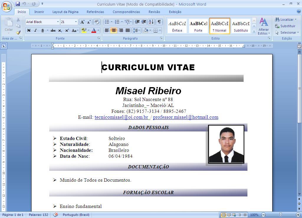 formato curriculo word juve cenitdelacabrera co