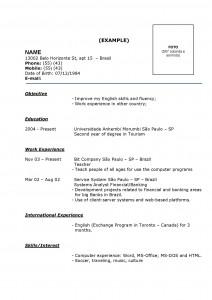 Modelo-de-Currículo-pronto-exemplos-grátis-ingles