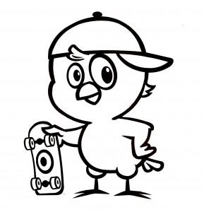 Desenhos-da-galinha-pintadinha-para-colorir-skate