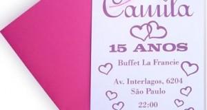 Modelo de Convite de Aniversário de 15 Anos